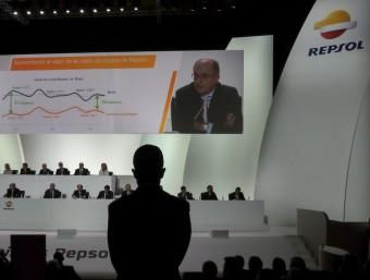 Última junta d'accionistes de Repsol.  Foto:AFP