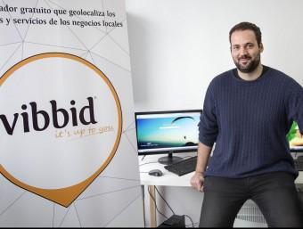 Miquel Àngel Méndez és un dels socis fundadors de Vibbid.  Foto:JOSEP LOSADA