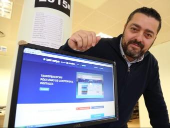 Carlos Jiménez va fundar Tellmebye el 2013.  Foto:ANDREU PUIG