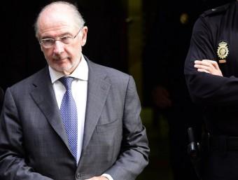 Rodrigo Rato, en una anterior compareixença davant el jutge a l'octubre de l'any passat pel cas de les targetes de crèdit de Bankia Foto:DANI POZO / AFP