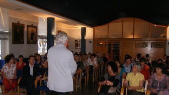 Una de les recepcions que s'han dut a terme als participants a alguna de les activitats del Servei del Català d'Olot i la Garrotxa, que treballa activament per la llengua. Foto:J.C