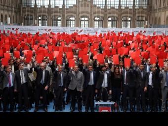 L'esport català va treure la vermella als greuges del centralisme de Madrid Foto:QUIM PUIG