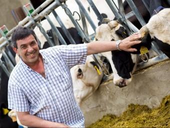 Jordi Riembau, a la seva granja de Palau Sator.  Foto:L'ECONÒMIC
