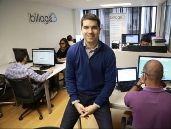 Antoni Guitart és un dels socis fundadors de Billage.  Foto:ANDREU PUIG