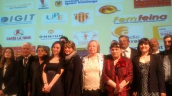 Guardonats i jurats dels premis de la Nit de Sant Jordi de Perpinyà Foto:ALEIX RENYÉ