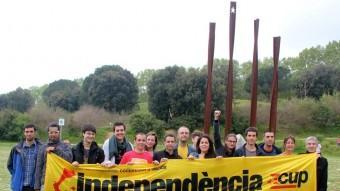 Imatge de família de la majoria dels candidat/es de la CUP del Maresme. Foto:CUP MARESME