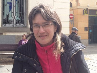 Montse Morón , portaveu de VoleMataró i secretària general de Podem Mataró Foto:E. FERRAN