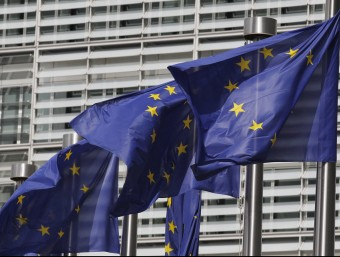 Banderes d'Europa. Foto:ARXIU