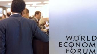 Participants en el fòrum econòmic de Davos, on participen nombroses multinacionals Foto:ERIC PIERMONT / AFP