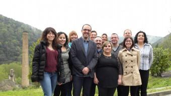 la candidatura de CiU de Sant Jaume de Llierca , amb Jordi Cargol al centre. Foto:EPA