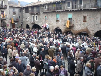 Santa Pau fills with visitors every year for the Fira del Fesol bean festival. Foto:A. VILAR