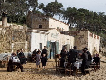 Shooting of the film El Cafè de la Marina on Castell beach. Foto:TV3