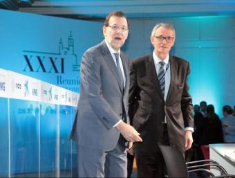 Antón Costas,al costat de Rajoy,presideix el Cercle d'Economia.  Foto:ARXIU