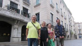 Els regidors de la CUP a l'Ajuntament de Girona Foto:EPA