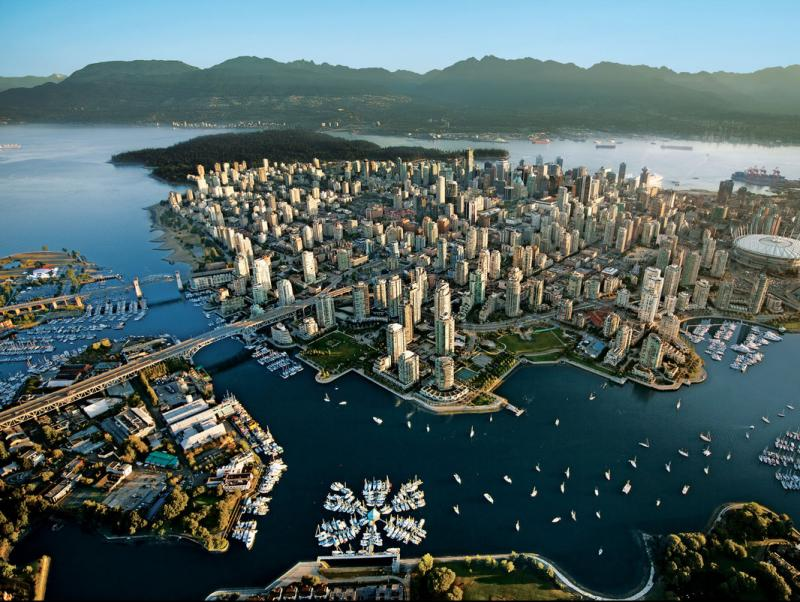 Aerial view of the city of Vancouver.  Foto:ARCHIVE