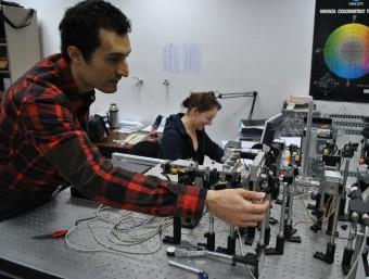 Investigadors del CD6 de la UPC, situat a Terrassa.  Foto:ARXIU