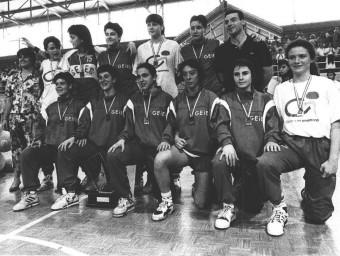 La plantilla del GEiEG, durant el campionat Foto:L'ESPORTIU