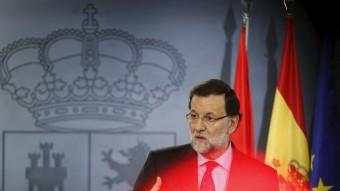 El president del govern espanyol, Mariano Rajoy, aquest divendres a La Moncloa Foto:REUTERS