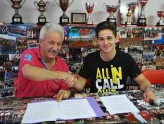 Manel Maestre, el president¡ i Diogo Neves Foto:SHUM