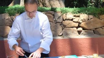 Una de les preparacions de llagosta servides ahir a l'Hotel Aiguablava de Begur durant la presentació de la campanya Foto:EL PUNT AVUI