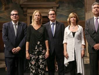Neus Munté, Artur Mas i Meritxell Borràs