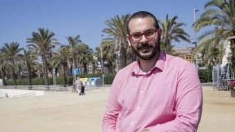 David Bote fotografiat al Passeig Marítim de Mataró, un dels potencials turñistics de la ciutat  Foto:A. S