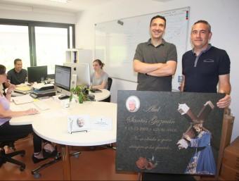 Juan carlos Ramos (esquerra)i Ignasi Esteban són els fundadors de Forever Us.  Foto:JUDIT FERNÁNDEZ