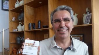 Oriol Calvo, director de la fira internacional de ceràmica Argillà Argentona, fotografiat ahir al Museu del Càntir. Foto:T.M T.M