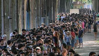 Cues del rodatge del càsting a la Devesa a Girona Foto:MANEL LLADÓ