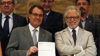 Artur Mas i Carles Viver i Pi-Sunyer quan era president del Consell Assessor per la Transició Nacional Foto:ORIOL DURAN