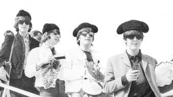George Harrison, Ringo Starr, John Lennon i Paul McCartney a l'aeroport del Prat, Foto:PÉREZ DE ROZAS / EFE