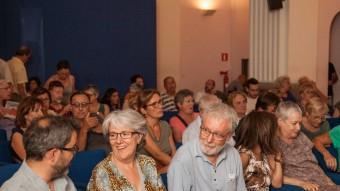 Un moment de l'acte d'ahir de l'ANC que es va fer a la Casa de Cultura de Girona Foto:JONAS FORCHINI
