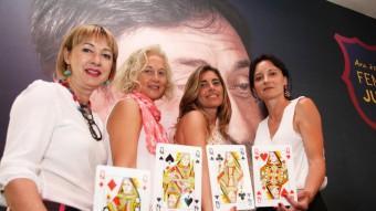 Isabel Galobardes, Laura Guitart, Elena Carazo i Laura Esparrich, (d'esquerra a dreta) són les quatre dames de l'equip d'Agustí Benedito Foto:ELISABETH MAGRE