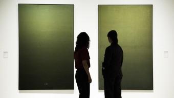 Dues pintures impressionants d'Hernández Pijuan, a l'exposició del MNAC Foto:ALBERT SALAMÉ