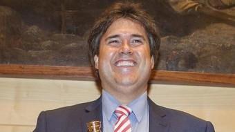 , Pere Vila, visiblement satisfet just quan acabada de ser nomenat Foto:J.RIBOT / ICONNA