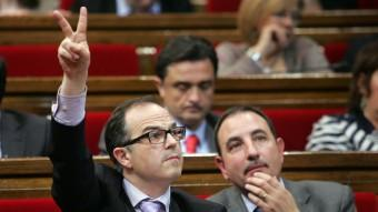 Jordi Turull i Ramon Espadaler al Parlament, el 2012 Foto:JUANMA RAMOS