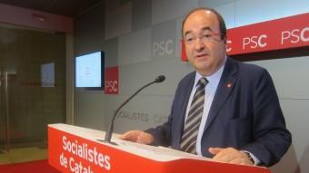 El candidat del PSC a la Generalitat , Miquel Iceta, va presentar ahir l'esborrany de programa electoral que el partit aprovarà a final de mes. Foto:EUROPA PRESS