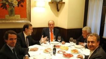 Imatge de la trobada difosa per Mariano Rajoy a Twitter