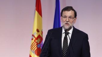 El president del govern espanyol, Mariano Rajoy, aquest dijous a Madrid Foto:EUROPA PRESS