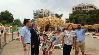 Les autoritats van visitar la nova platja de sorra natural Foto:INFOCAMP