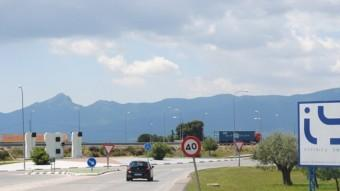 Carretera d'accés a la vila d'Ibi. Foto:B. SILVESTRE