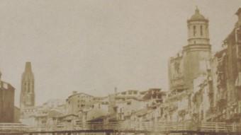 La foto de Franck, la més antiga de Girona, i una d'actual de J.M. Oliveras Foto:CRDI