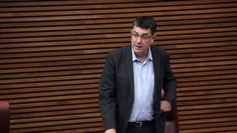 Enric Morera ha presidit la seua primera Junta de Síndics a les Corts. Foto:ACN