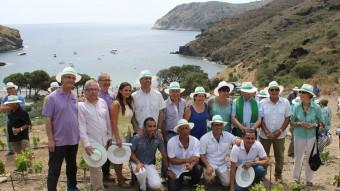 La inauguració de la vinya de l'Hotel Cala Jòncols, ahir . Foto:ELPUNTAVUI