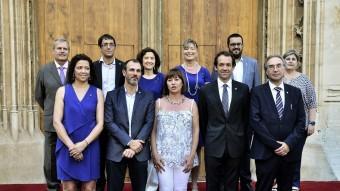 Foto de família del nou govern balear, aquest divendres a Palma Foto:EFE
