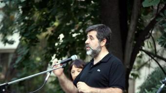 Jordi Sànchez, ahir a Tortosa en l'inici de la campanya 'On tot comença' Foto:ACN