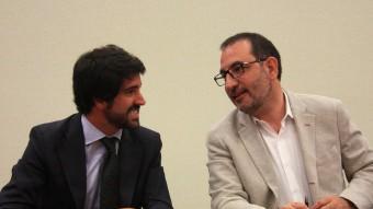 Roger Montañola i Ramon Espadaler han reunit aquest dilluns els diputats d'UDC fidels a la direcció Foto:ACN
