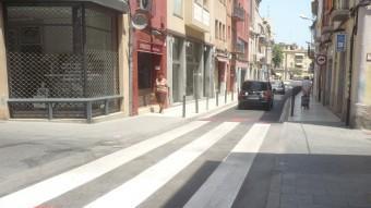 El carrer Sant Benet de Mataró s'ha reobert al trànsit després de mes d'un mes tallat per obres. Foto:LL. ARCAL