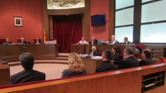 Els acusats en el cas Clotilde, en una sessió del judici al TSJC Foto:EUROPA PRESS