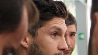 Javi López ahir en la primera roda de premsa de la temporadaBurgui i Hernán Pérez ahir a Sant Adrià Foto:FERRAN CASALS F.C